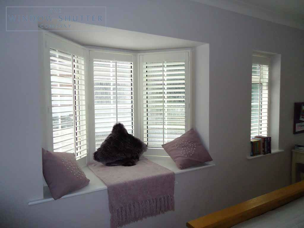Full Height shutter Seattle tilt rod bay window bedroom large house Fareham Hampshire 1 0610