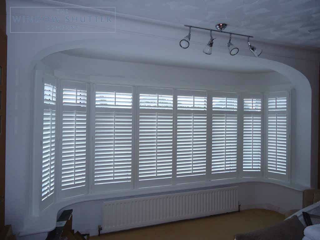 Full Height shutter Seattle tilt rod bay window bedroom large house Fareham Hampshire 2 0610