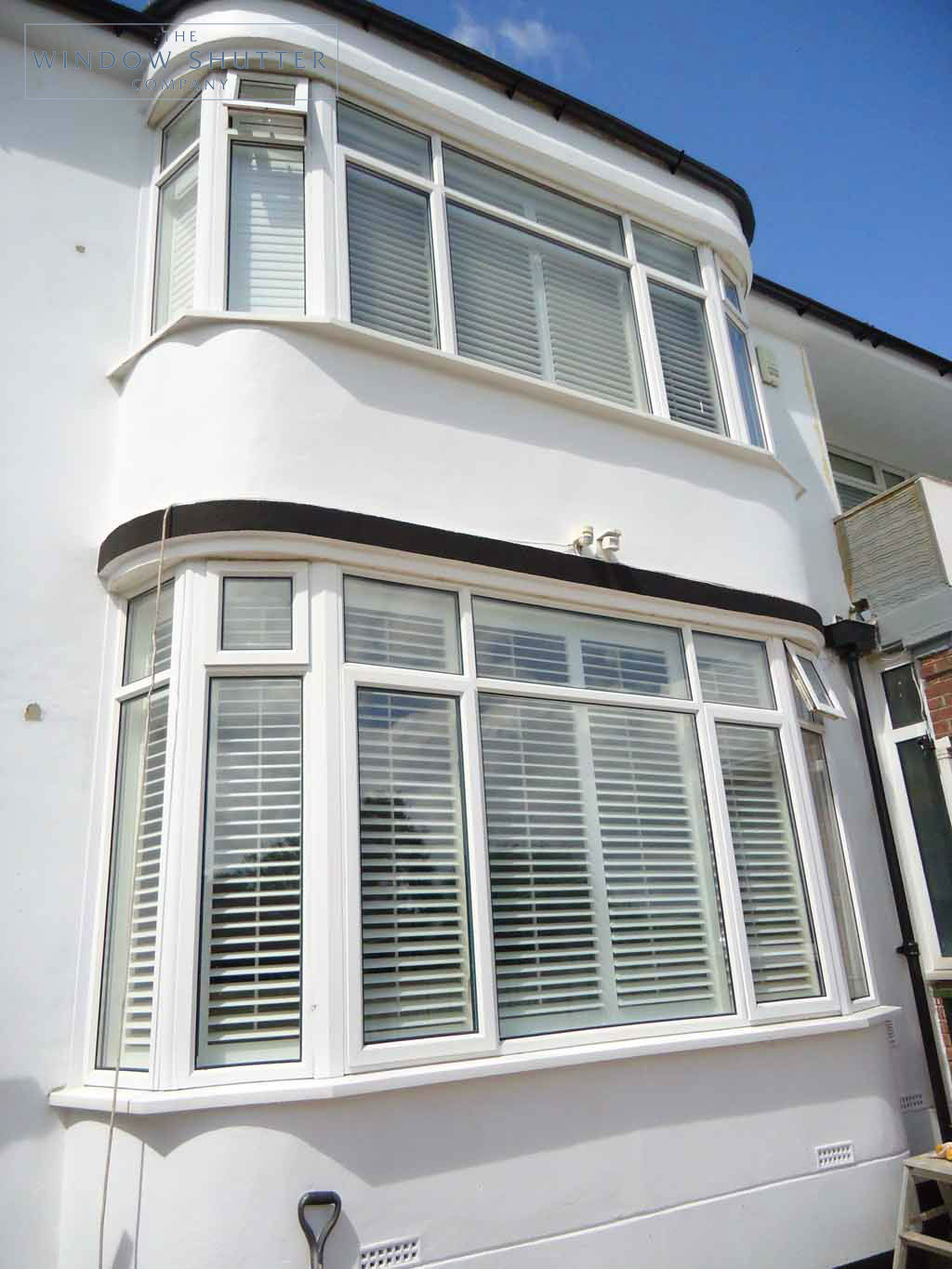 Full Height shutter Seattle tilt rod bay window lounge large house Fareham Hampshire 2 0610