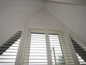 Shaped shutter Seattle easy-tilt bedroom 2 new build Teddington London 3 0616