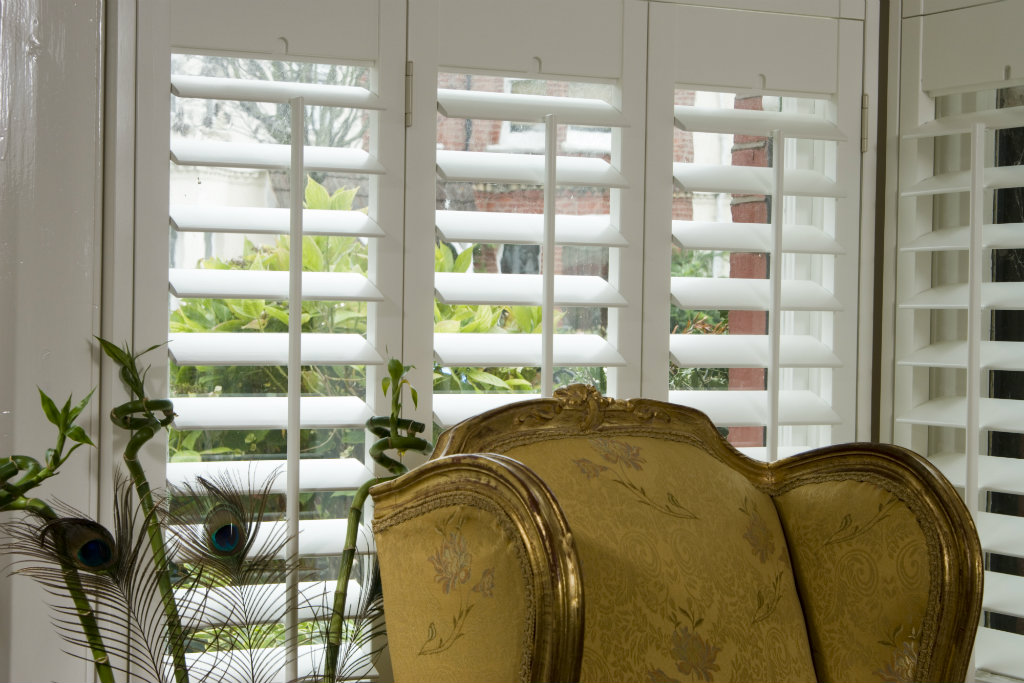 Free home design visit white shutter close up