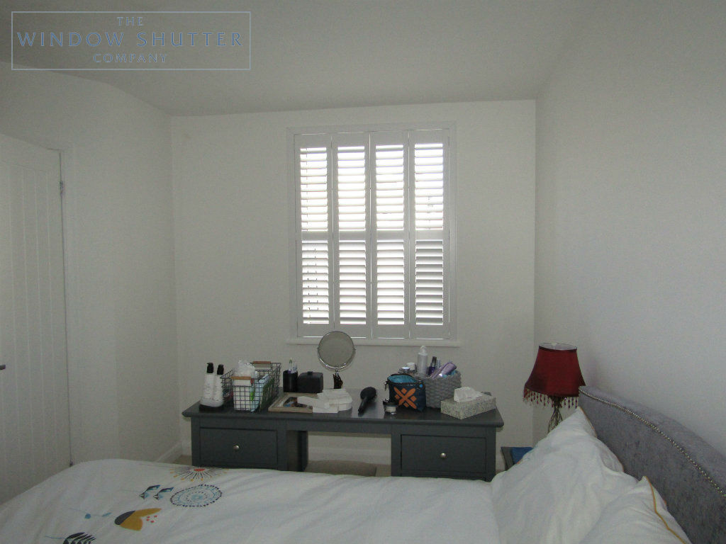 Full height shutter Seattle hidden tilt bedroom seafront apartment St Leonards-on-Sea, East Sussex after