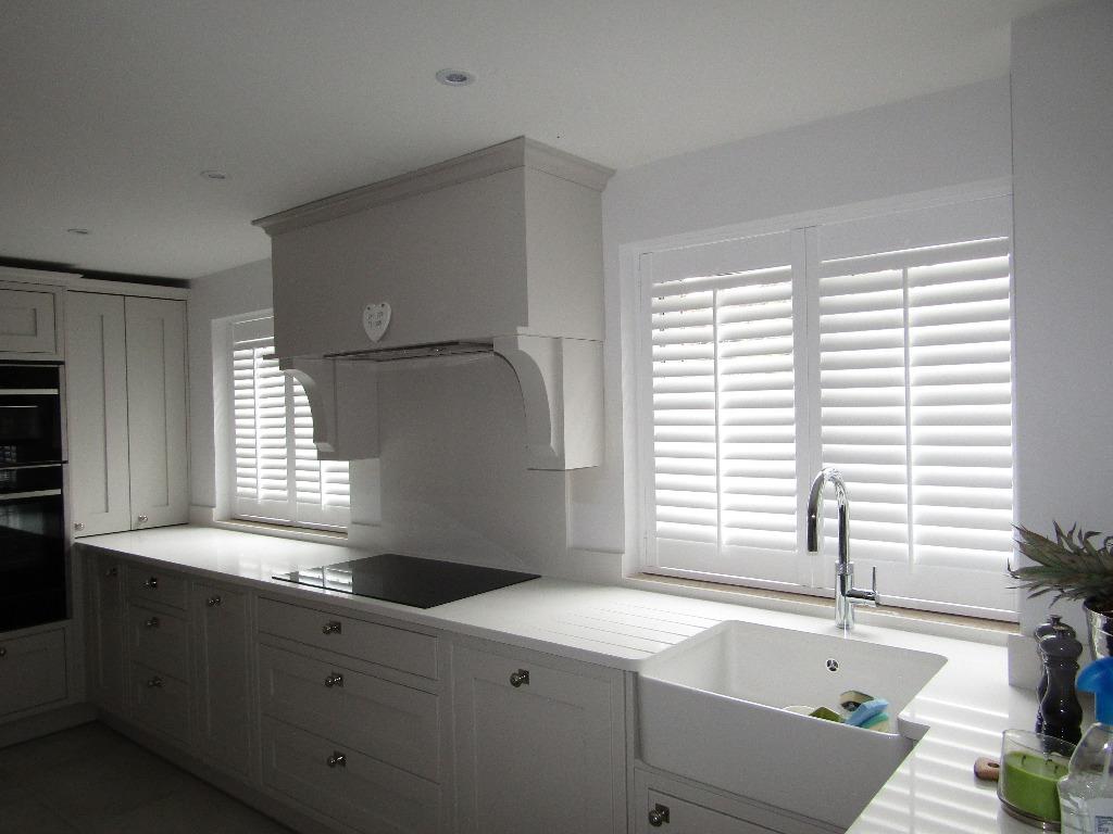 Shutter solutions reducing heat gain white