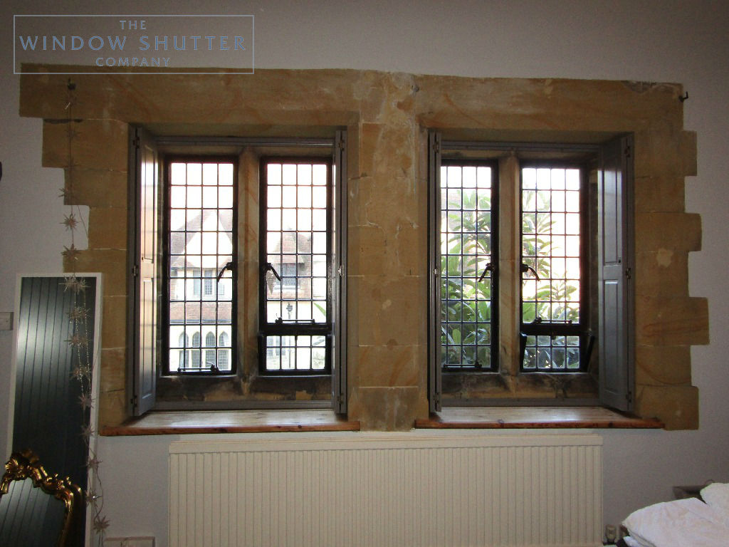 Solid shutters Boston premium hardwood mid-rail coloured period property East Grinstead Sussex 0319 featured