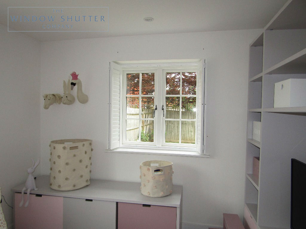Full height shutters Seattle Pure White child's bedroom Haywards Heath, West Sussex 0619