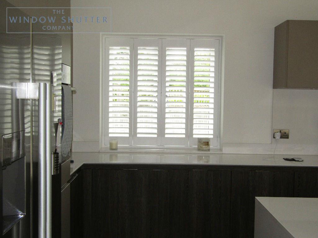 Full height shutters Seattle Pure White Kitchen Haywards Heath, West Sussex 0619