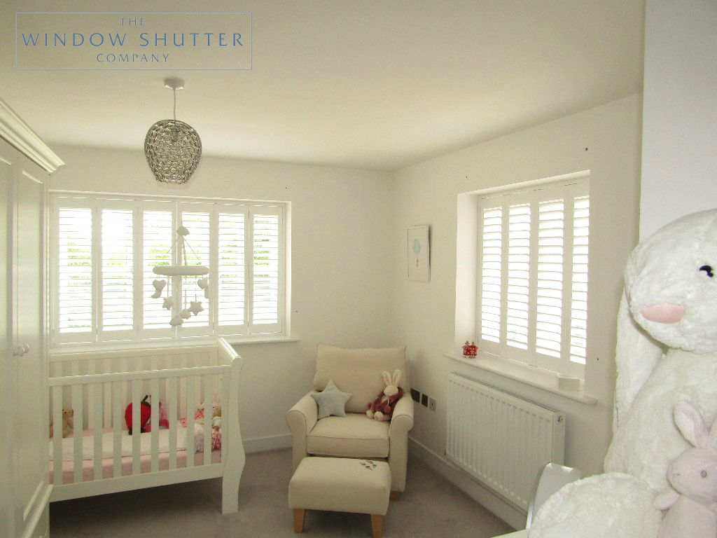 Full height shutters Seattle Pure White nursery Haywards Heath, West Sussex 0619